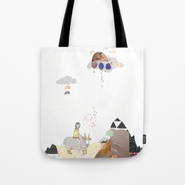Hermit Crab vs. Snail Tote Bag