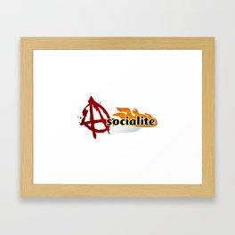 asocialite Framed Art Print