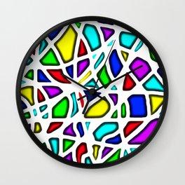 rainbow clown Wall Clock