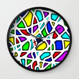 rainbow clown Wall Clock