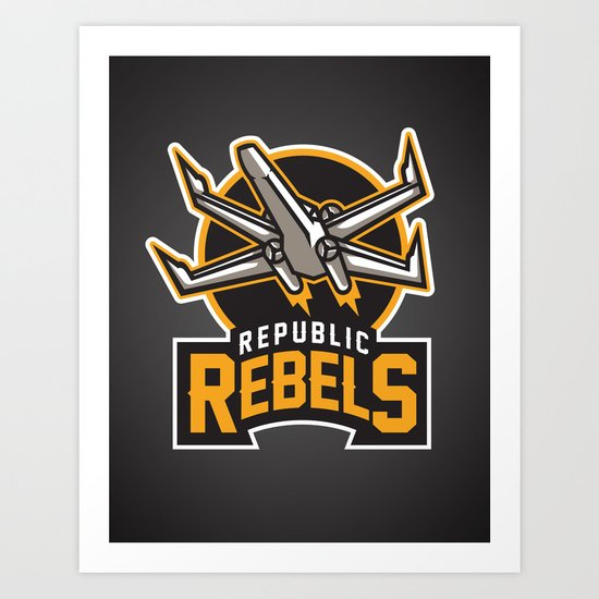 Republic Rebels - Black Art Print