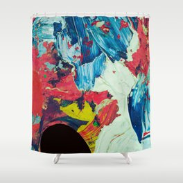 VOID - Acrylic stroke painting Shower Curtain