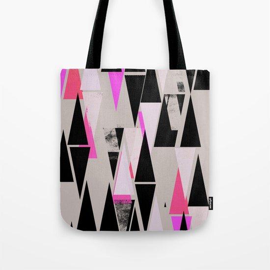Pink Triangles II Tote Bag