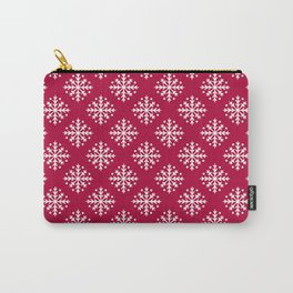 White Snowflakes Carry-All Pouch