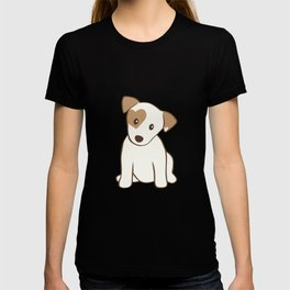 Heart spotted jack Russell Terrier Dog T-shirt