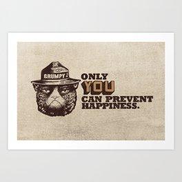 Grumpy PSA Art Print