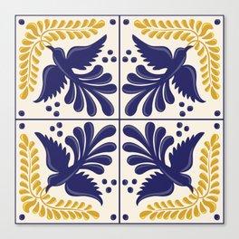 Mexican Talavera With Birds Canvas Print