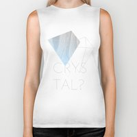 crystal Biker Tanks featuring CRYSTAL? by Halo Jones