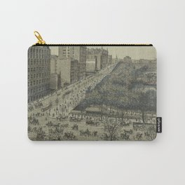 Vintage Pictorial Map of Central Park, 5th Avenue & 59th Street (1886) Carry-All Pouch
