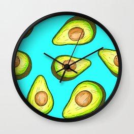 Avocado Loveliness Wall Clock