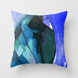 Abstraction 317I by Kathy Morton Stanion Throw Pillow