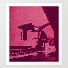 Hot Pink Turntable Vintage Style Art Art Print