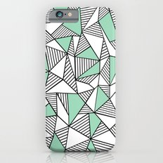 Abstraction Lines with Mint Blocks iPhone 6 Slim Case