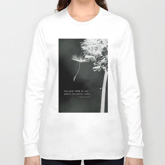 jump off and take a shot Long Sleeve T-shirt