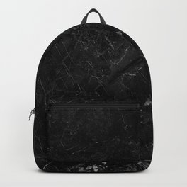 Black marble with detail structure close up view. Backpack