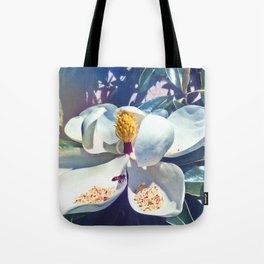 Magnolia Blossom and Bee Tote Bag