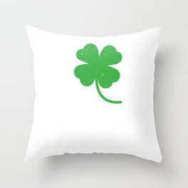 Distressed Four Leaf Clover St Patricks Day Throw Pillow