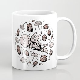 Triceratops Rocks! | Rose Quartz | Dinosaur Skull Fossil Art Coffee Mug