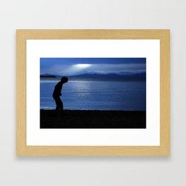 blue champlain Framed Art Print