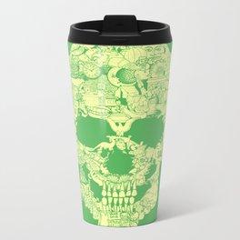 Clip Art Skull Metal Travel Mug