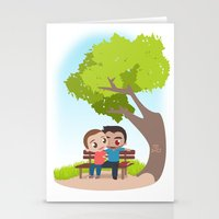 sterek Stationery Cards featuring Sterek Spring by Amarok