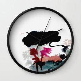 Begin [2]: a minimal abstract mixed media piece Wall Clock