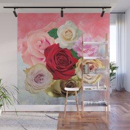 Rose Garden - Floral Spring Summer Roses Design Wall Mural