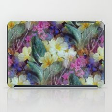 Pink yellow purple floral pattern iPad Case