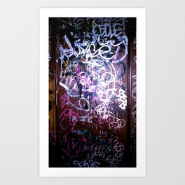 Bathroom Graffiti II Art Print