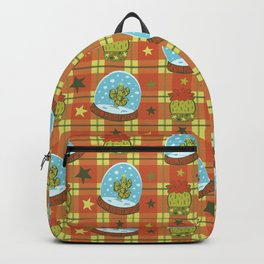 Cactus in a Snow Globe Backpack
