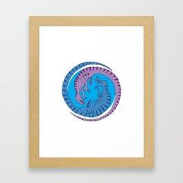 Before Time Began II (blue) Framed Art Print