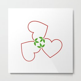 Red hearts for valentines day and love Metal Print
