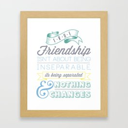 True Friendship Framed Art Print