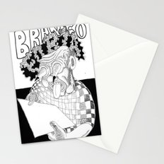 Branco fobia Stationery Cards