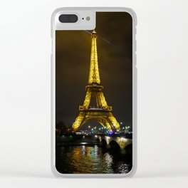 Paris at night Clear iPhone Case
