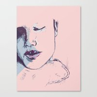 cuddle Canvas Prints featuring cuddle by Gaspart