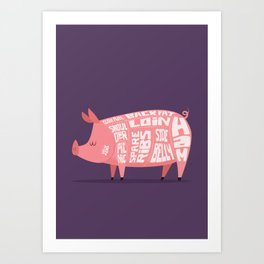 Pork Cuts Art Print