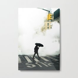 Foggy walk Metal Print