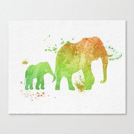 Elephants 020 Canvas Print