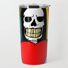 LOVE IS LOVE! (SKULL LADY) Travel Mug