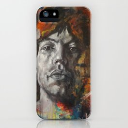 Mick.Jagger.Abstract iPhone Case