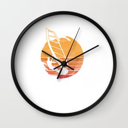 Wind Surfing Water Sports Sailing Water Activity Sailboarding Wind Surfers Gifts Wall Clock