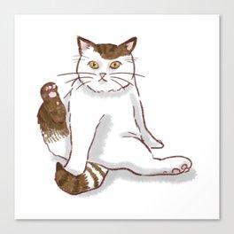 Sporty cat Canvas Print
