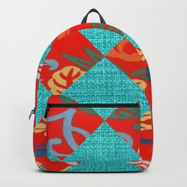 Orange & Turquoise Tropical Bliss Backpack