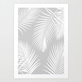 Gray Tropical Pattern Art Print