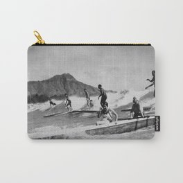 Vintage Surfing Hawaii Carry-All Pouch