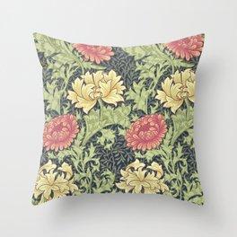 William Morris Chrysanthemum Throw Pillow