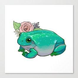 Succulent Frog Canvas Print