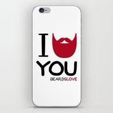 I BEARD YOU iPhone & iPod Skin