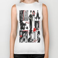 charlie Biker Tanks featuring CHARLIE by BLUE VELVET DESIGNS